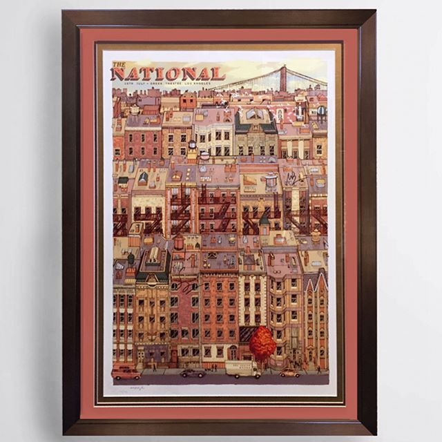 The National tour poster, limited edition and signed! For the Greek Theatre, double matted and framed. . . . . . . . . . . . . . mattberninger #thenational #goldenvoice #greektheatre