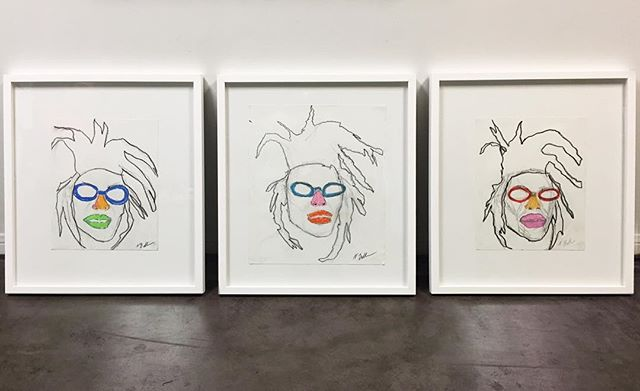 This awesome 3 set by @nataliebergman . Original pieces floated in a simple white frame. . . . . . . . #nataliebergman #localart #localartla #laart #artla #laartist #pictureframing #bellearte #pictureframingla