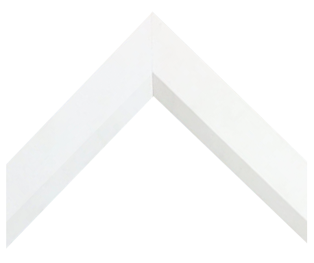 Custom Picture Framing - Beveled Matte White