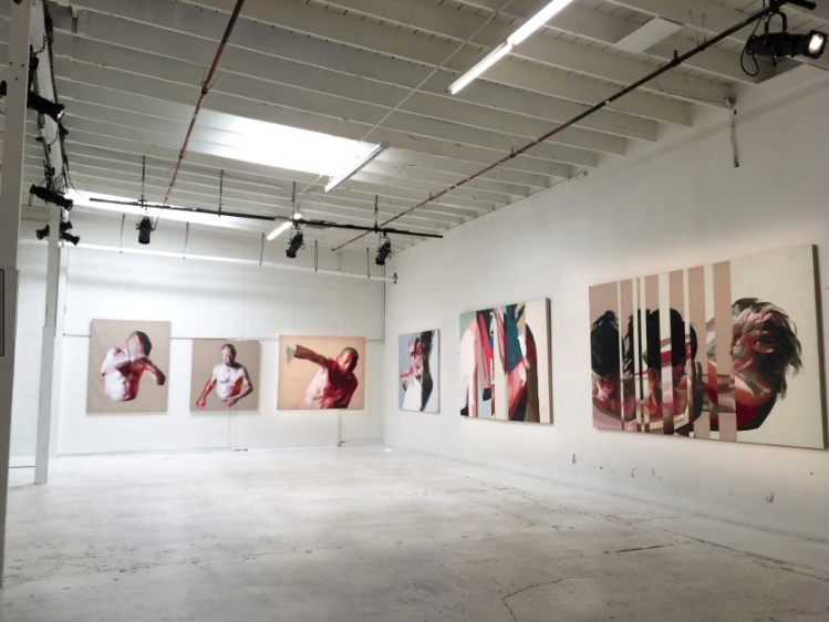 Simon Birch's Paintings at the 14th Factory Los Angeles