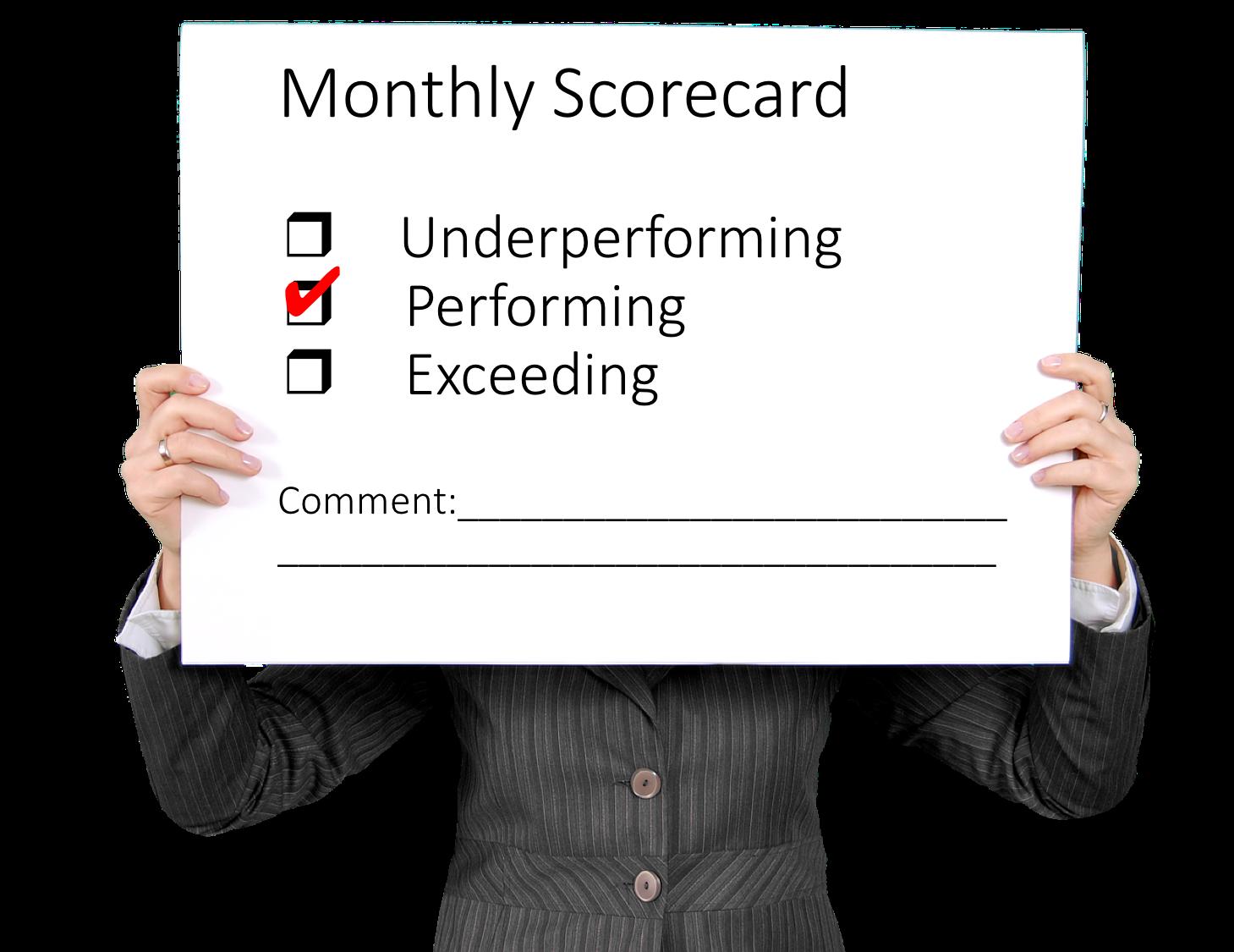 Monthly Scorecard
