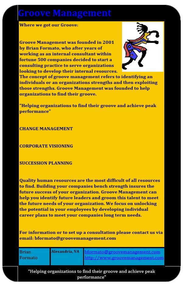 Groove Management's original website from 2001