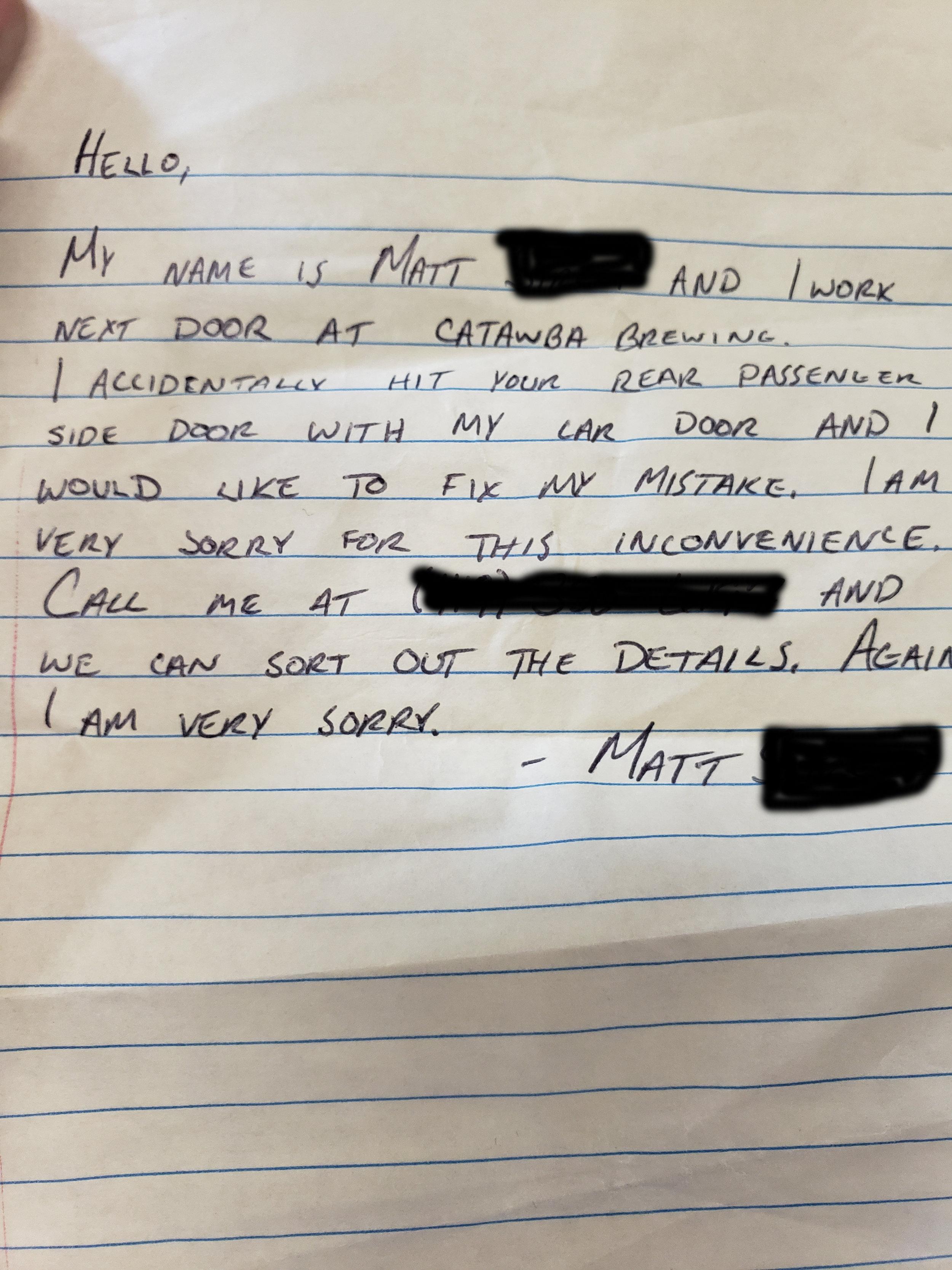 Matt Note