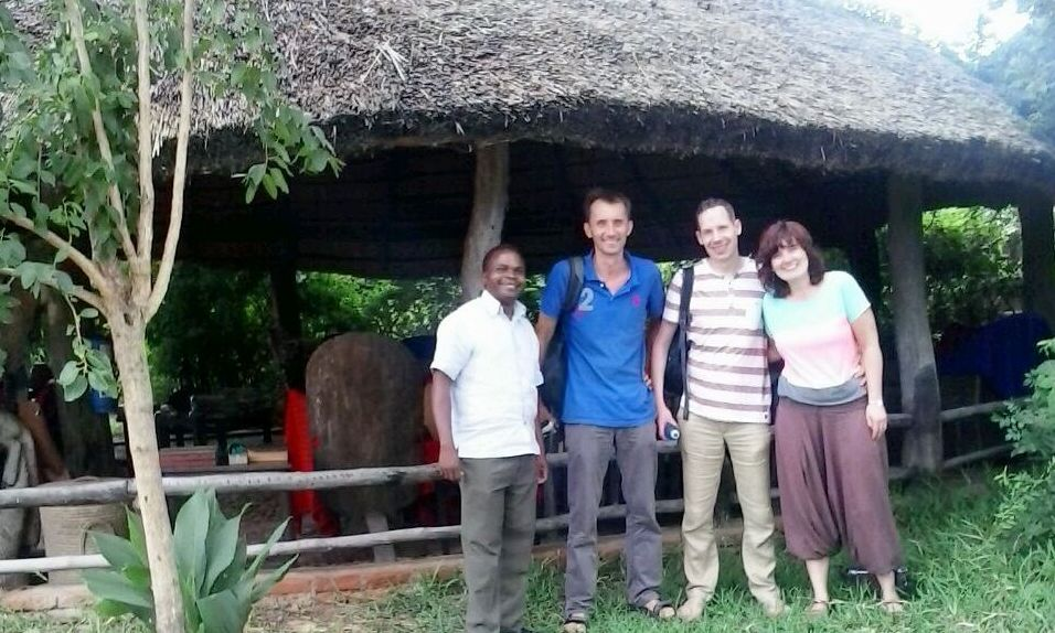 With Leen, Walter, and Kerst from the Netherlands at Liwonde National Park