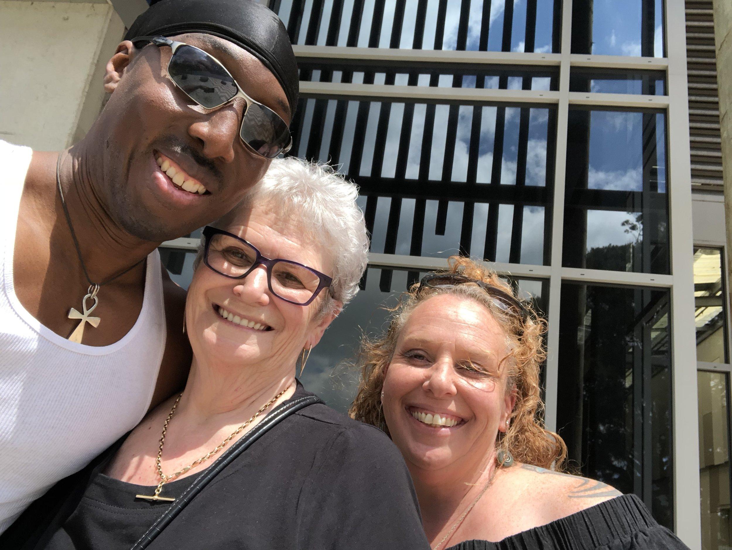 With Dr Antwi Akom and Haley Milne (Principal) at  Kia Aroha College