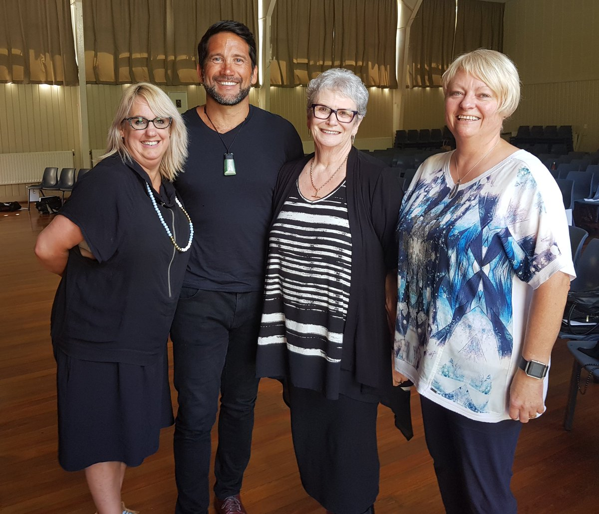Helen Taylor-Young, Principal of  Victory Primary School  and Lead Principal of the Nelson City Community of Learning,  Dr Lance O'Sullivan  and  Dr Cheryl Doig .