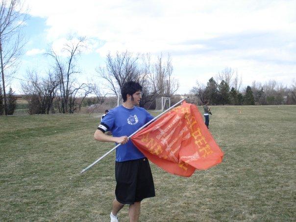 "Boulder HULA flag: ""One Love"""