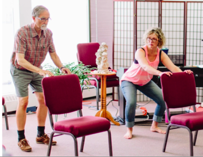 The Poise Project  Team Member, AT teacher Candace Cox, teaching how to use Alexander-based principles for improving balance and stability