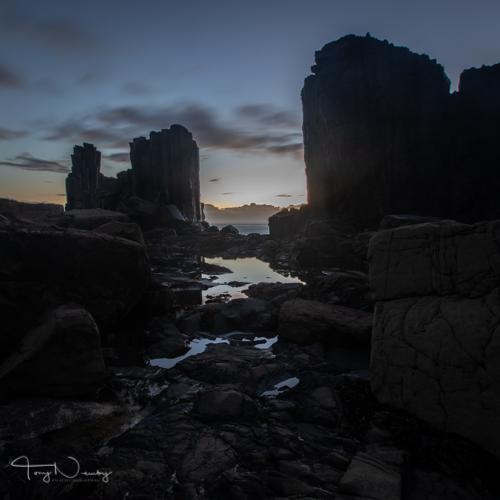 Bombo Quarry just before sunrise