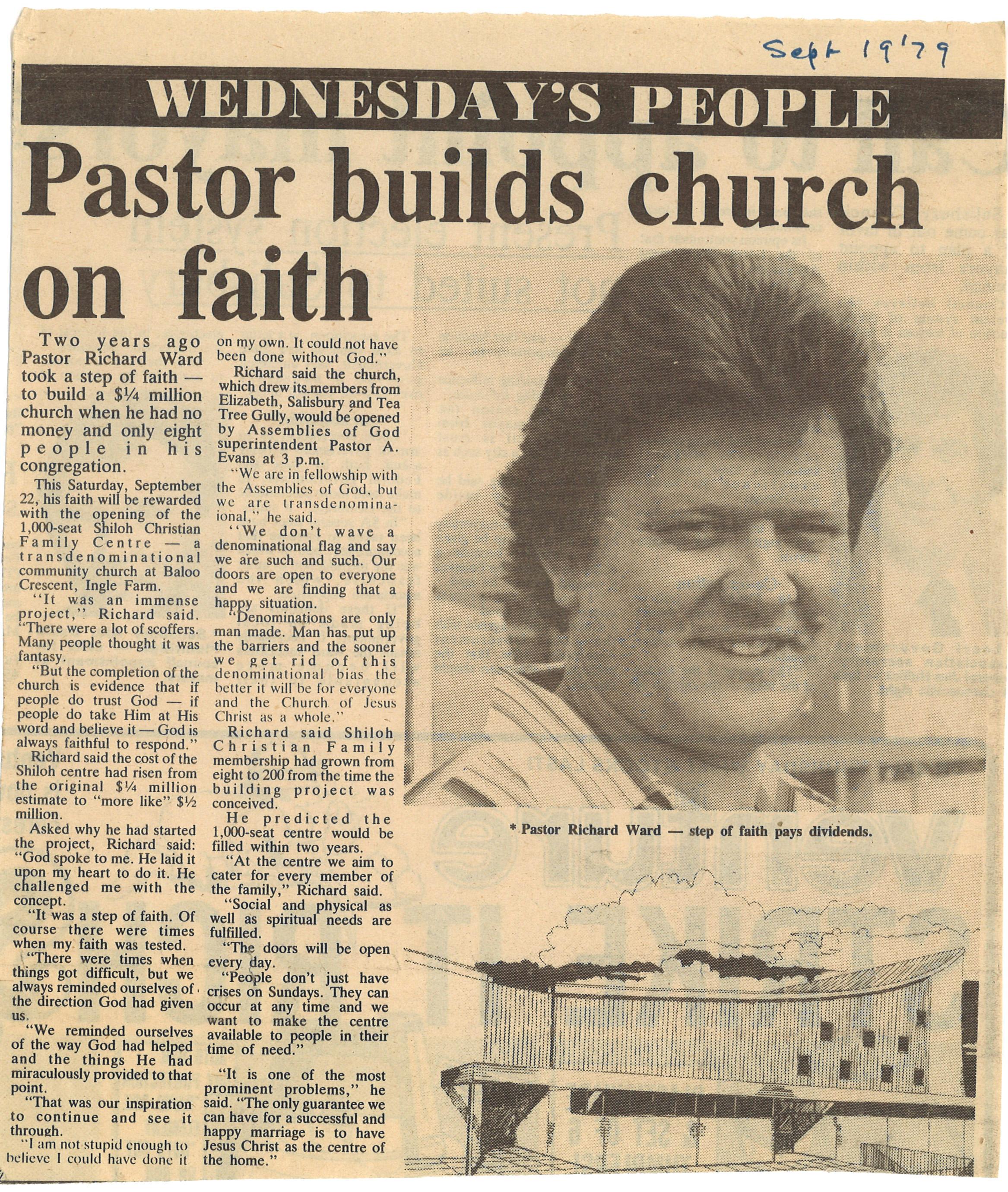 newspaer - builds church on faith.jpg