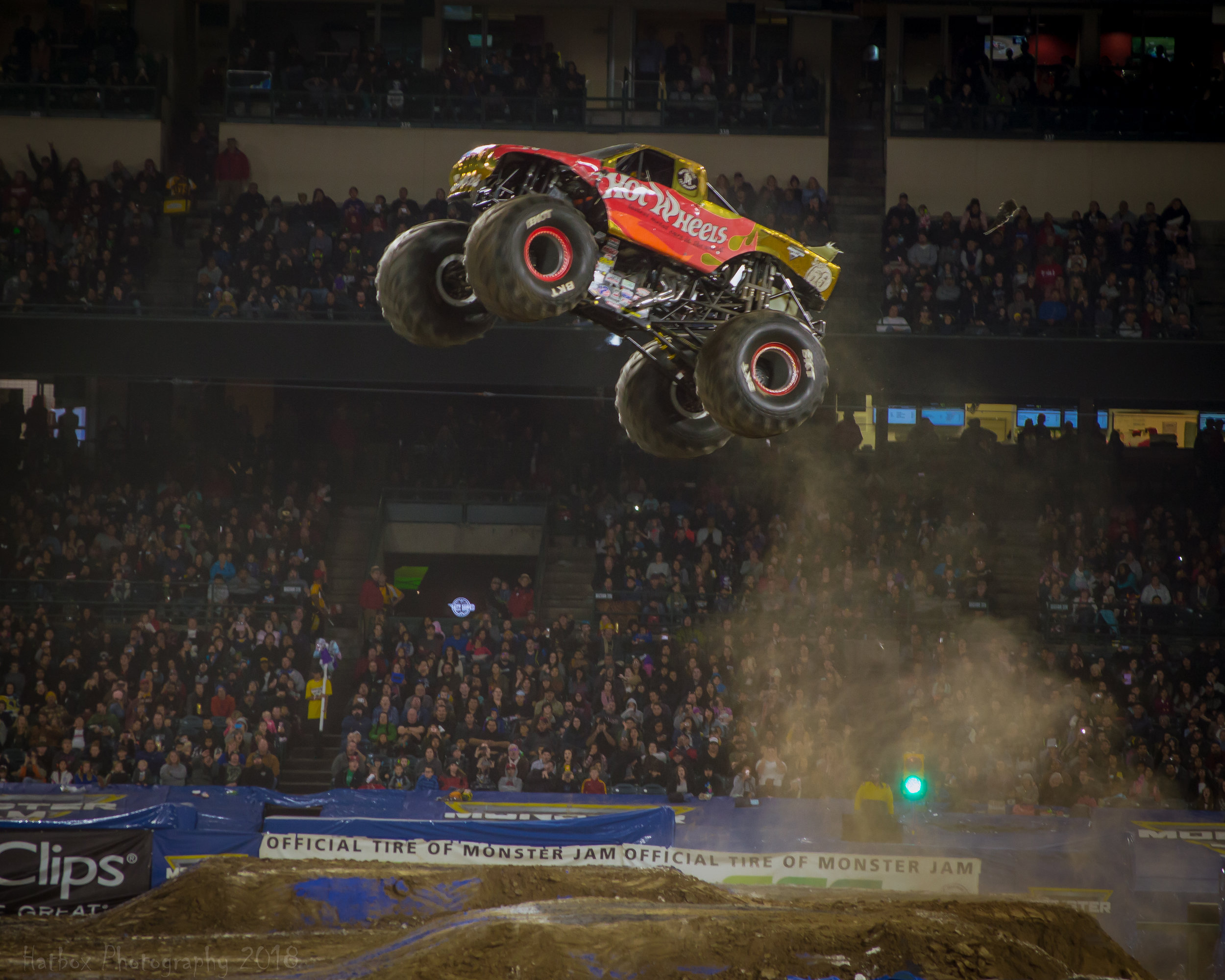 Team Hot Wheels Firestorm driven by Scott Beutow gets some of the biggest air in all of Monster Jam. His truck just seems to glide through the air like a bird in flight. He is always a threat to win freestyle no matter what arena or stadium he is in.