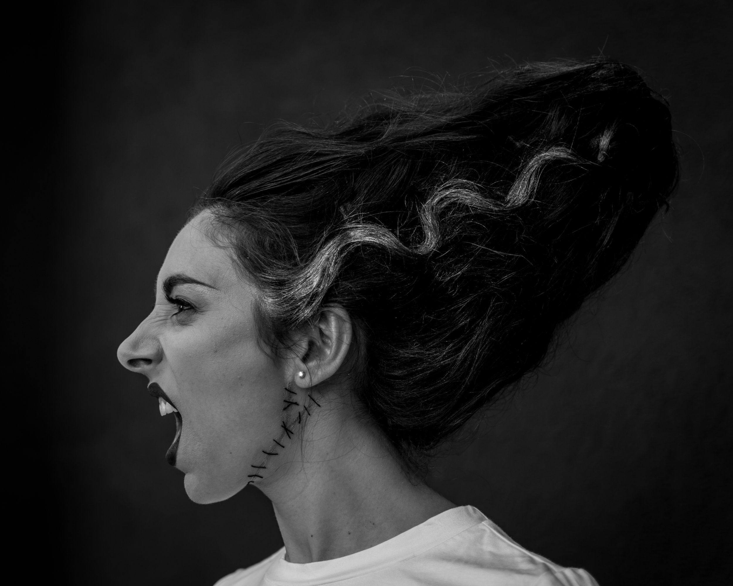 Bride of Frankenstein - Makeup by MJ DuBarr, Hair by Madison Mabe