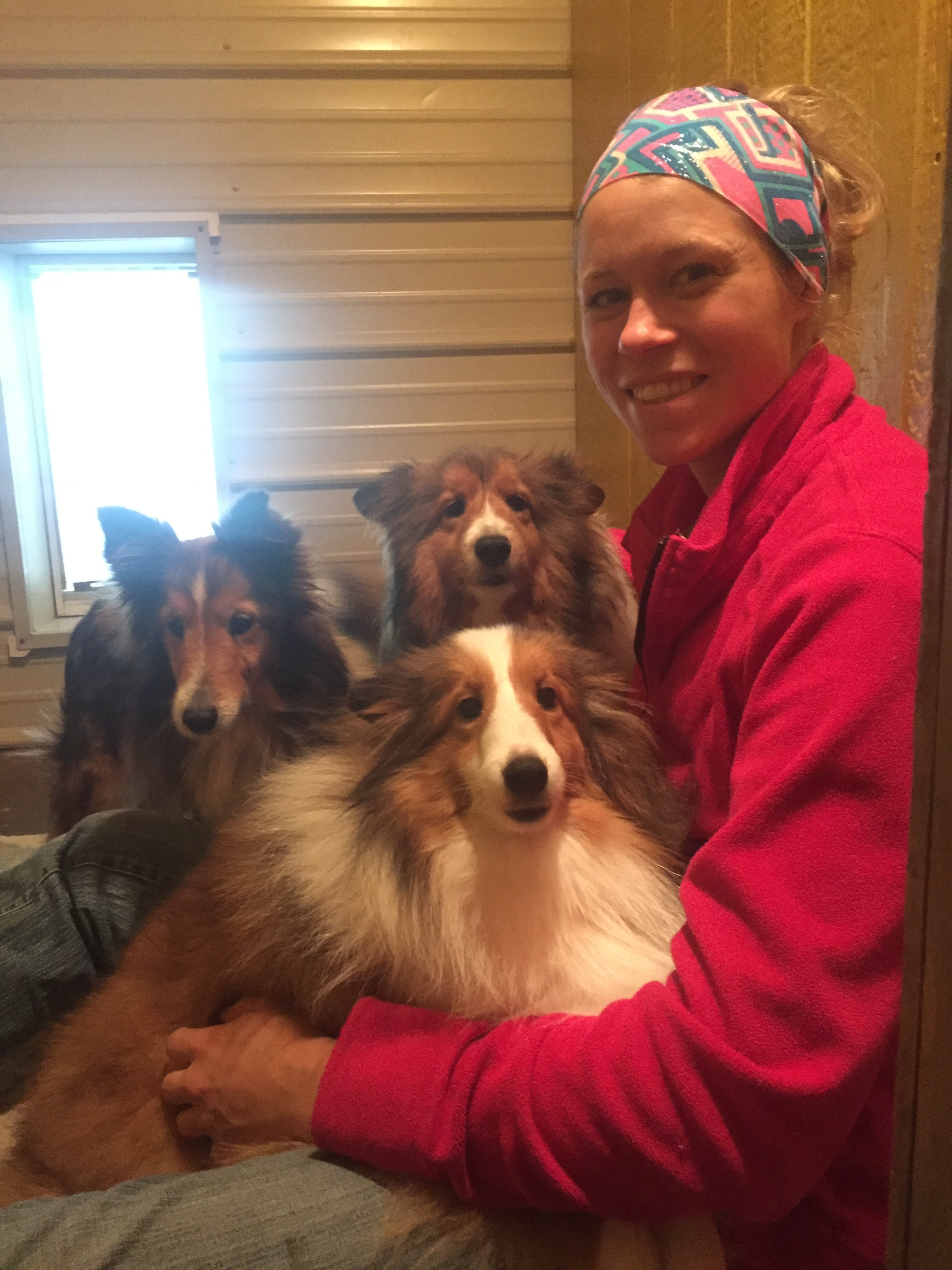 Kaity with the Sheltie Crew