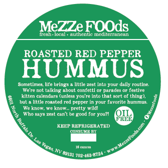 Roasted Red Pepper Hummus, Exclusive to Las Vegas!