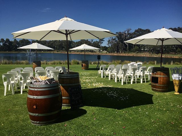Our Barrels and Brellas aren't only just perfect for beach events but for any event anywhere. We provide shade in style! Message us today for more information
