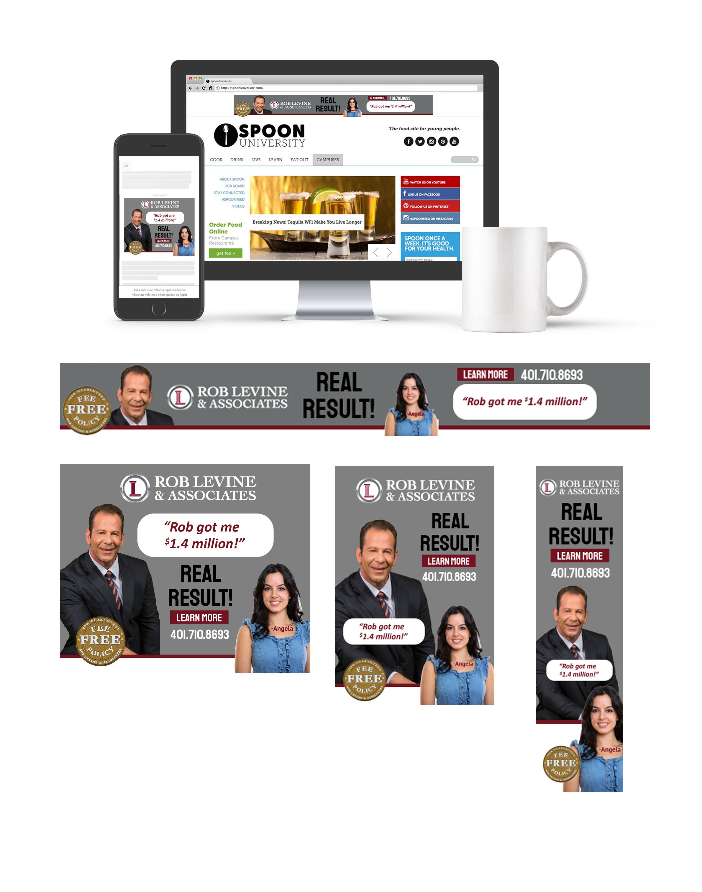 Rob Levine Geofencing Digital Ad Campaign