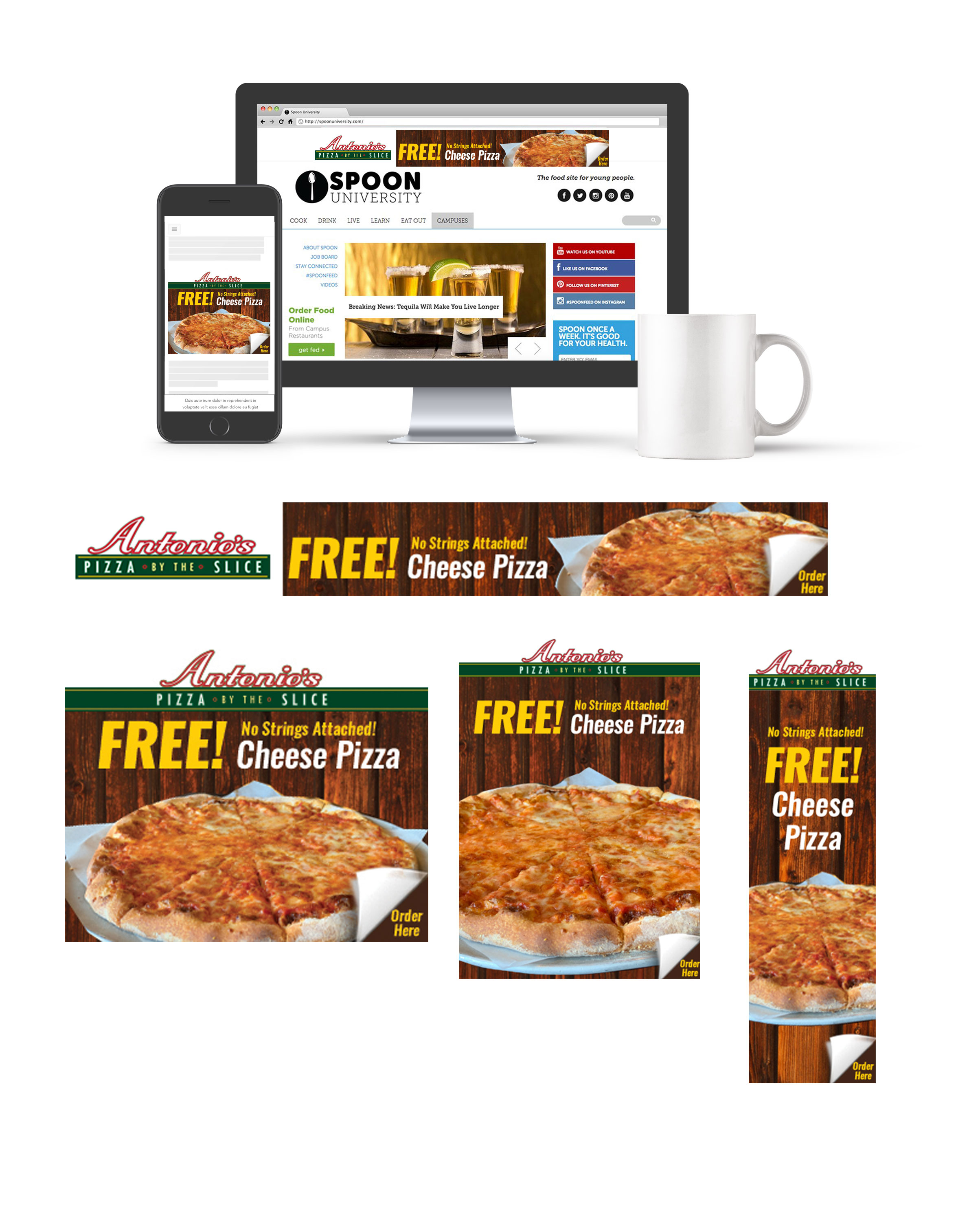 Antonios Pizza By The Slice Geofencing Digital Ad Campaign