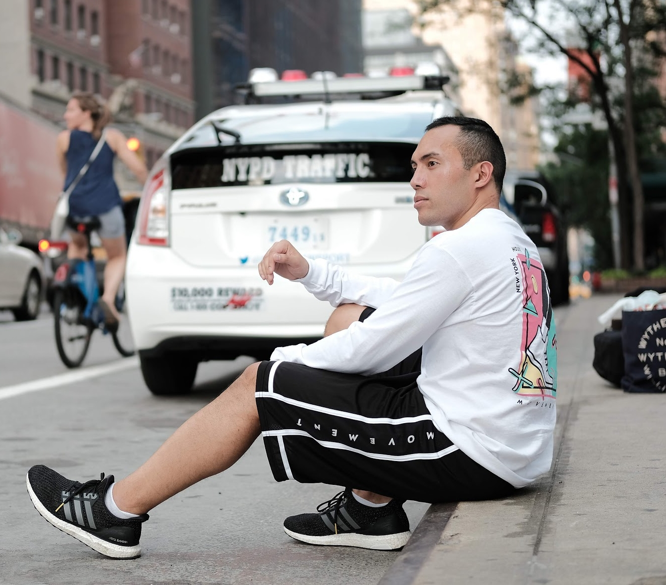 HoM x FoF Black & White Shorts - We are throwing it back to the 90s with this Summer '18 Collection x Collaboration with Friend of a Friend Studios! Basketball shorts are relaxed fit. 'Movement' Logo on Black and White Basketball shorts. Printed in New York City.Available in S, M, L.100% Polyester with mesh side-panelShipping Available.$40