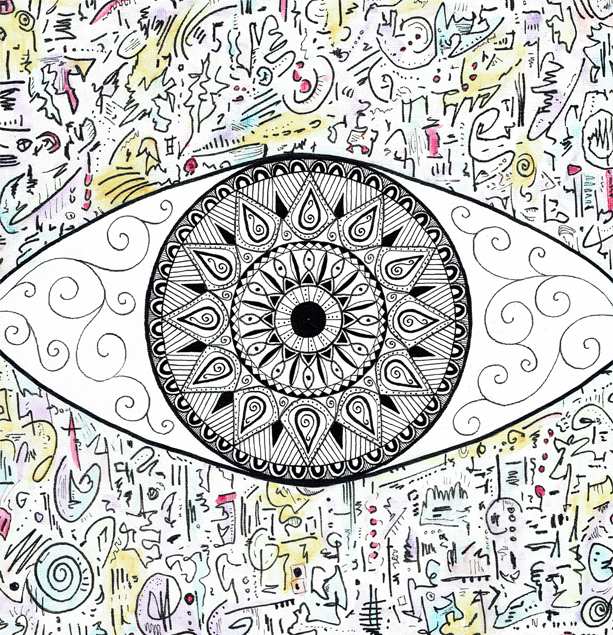 Who Are You Abstract Eye Artwork