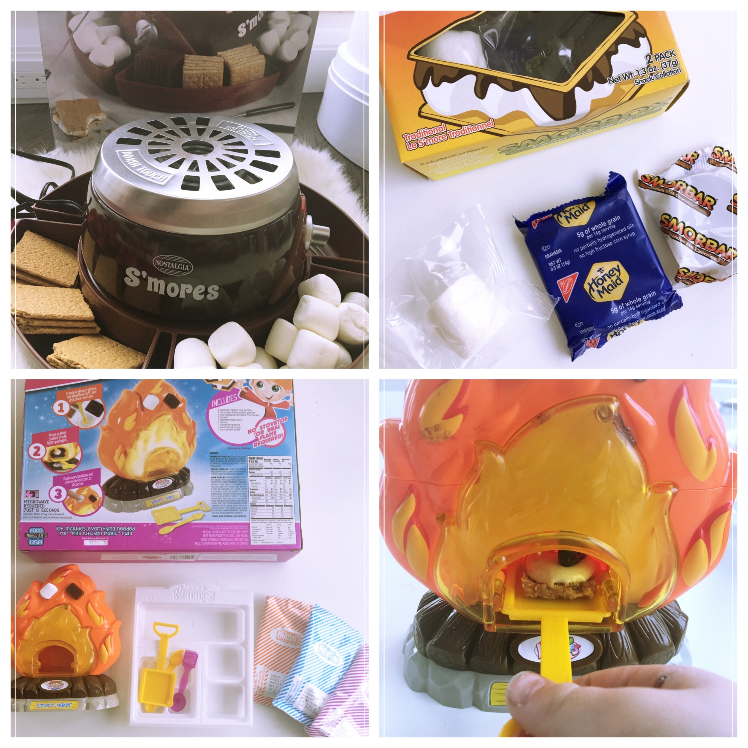 Nostalgic S'more kit,   Yummy Nummie S'more kit ,  SmorBox  pre-packaged s'mores set