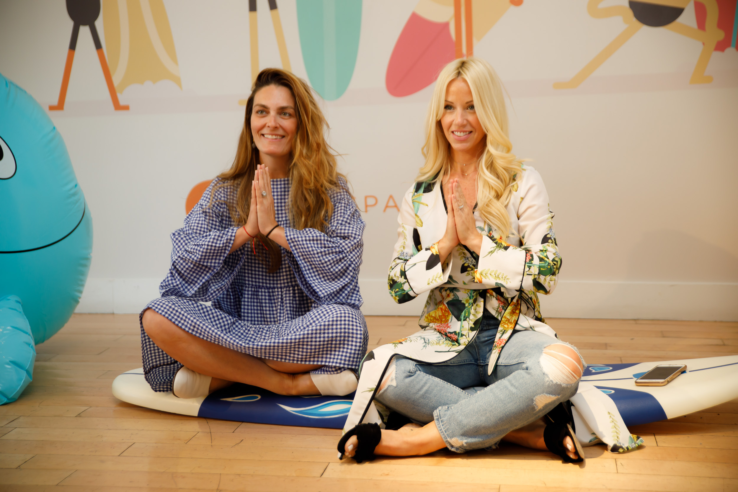 Brianne from Stroller in the City and me having fun being zen!