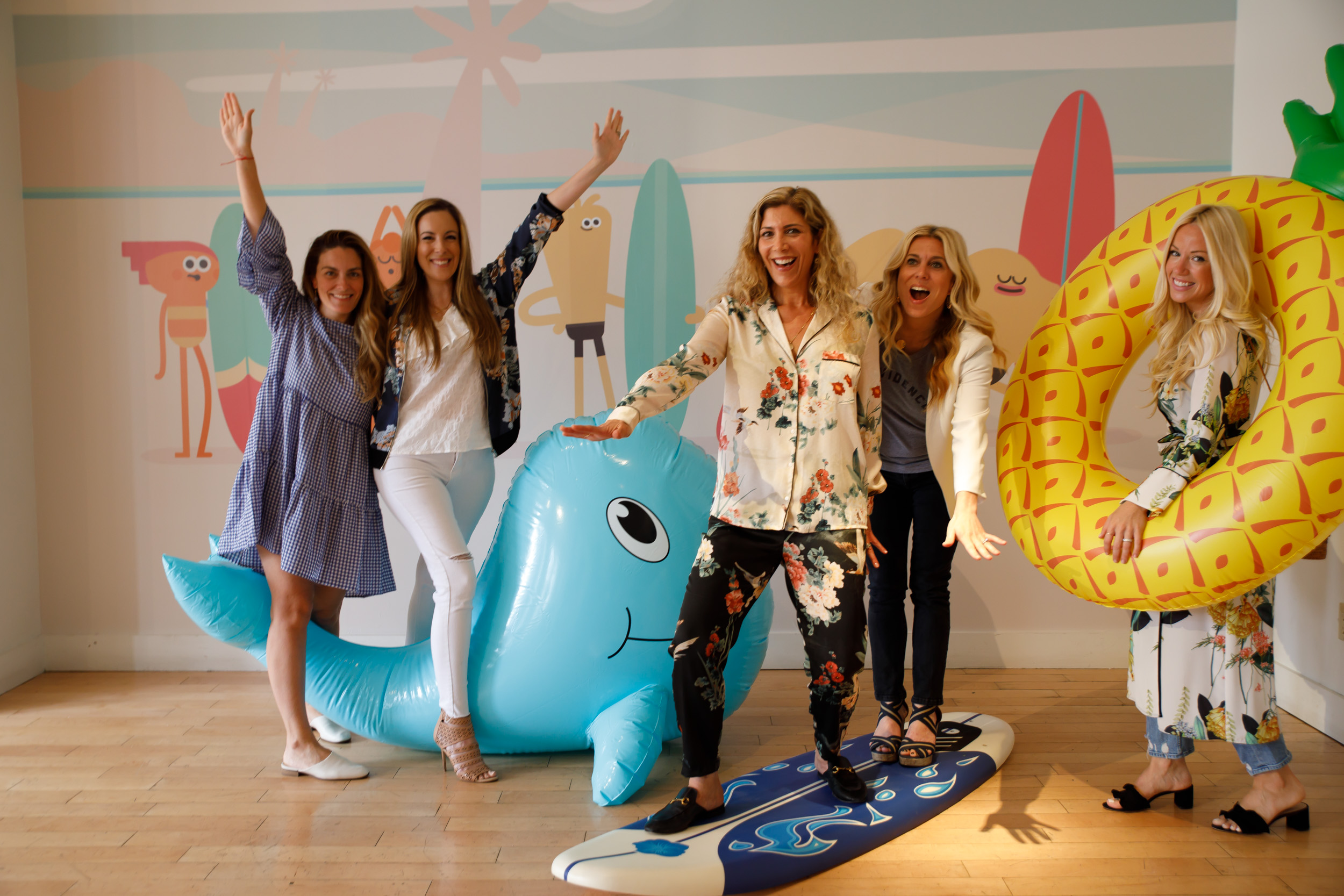 Moms having fun! Brianne Manz , Vera Sweeney ,  Lauren Dimet Waters ,  Audrey McClellen