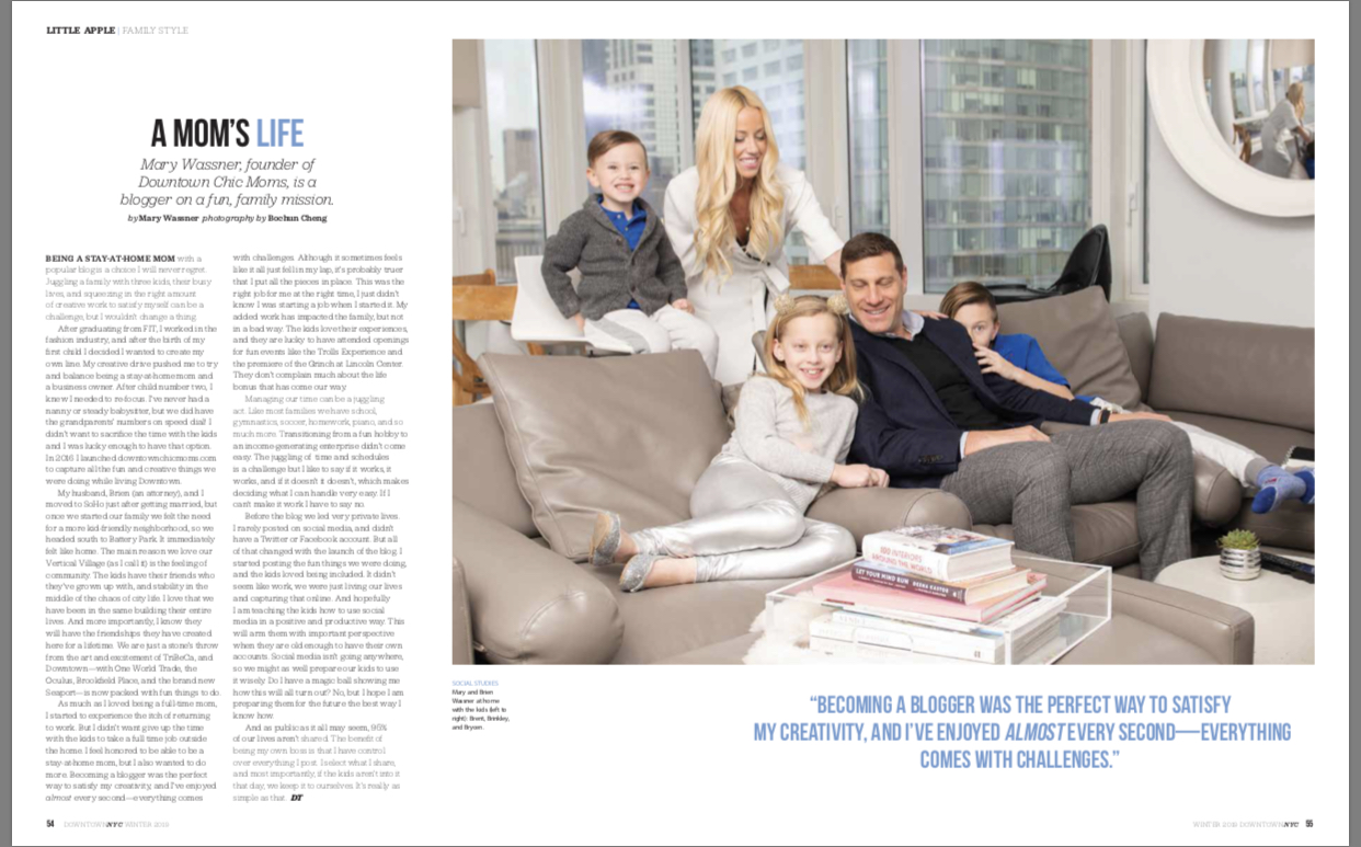 Downtown Chic Moms & downtown magazine