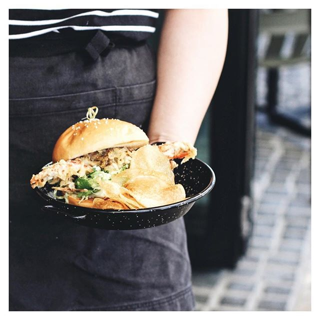 Now serving up these crispy soft shell crab brioche rolls!