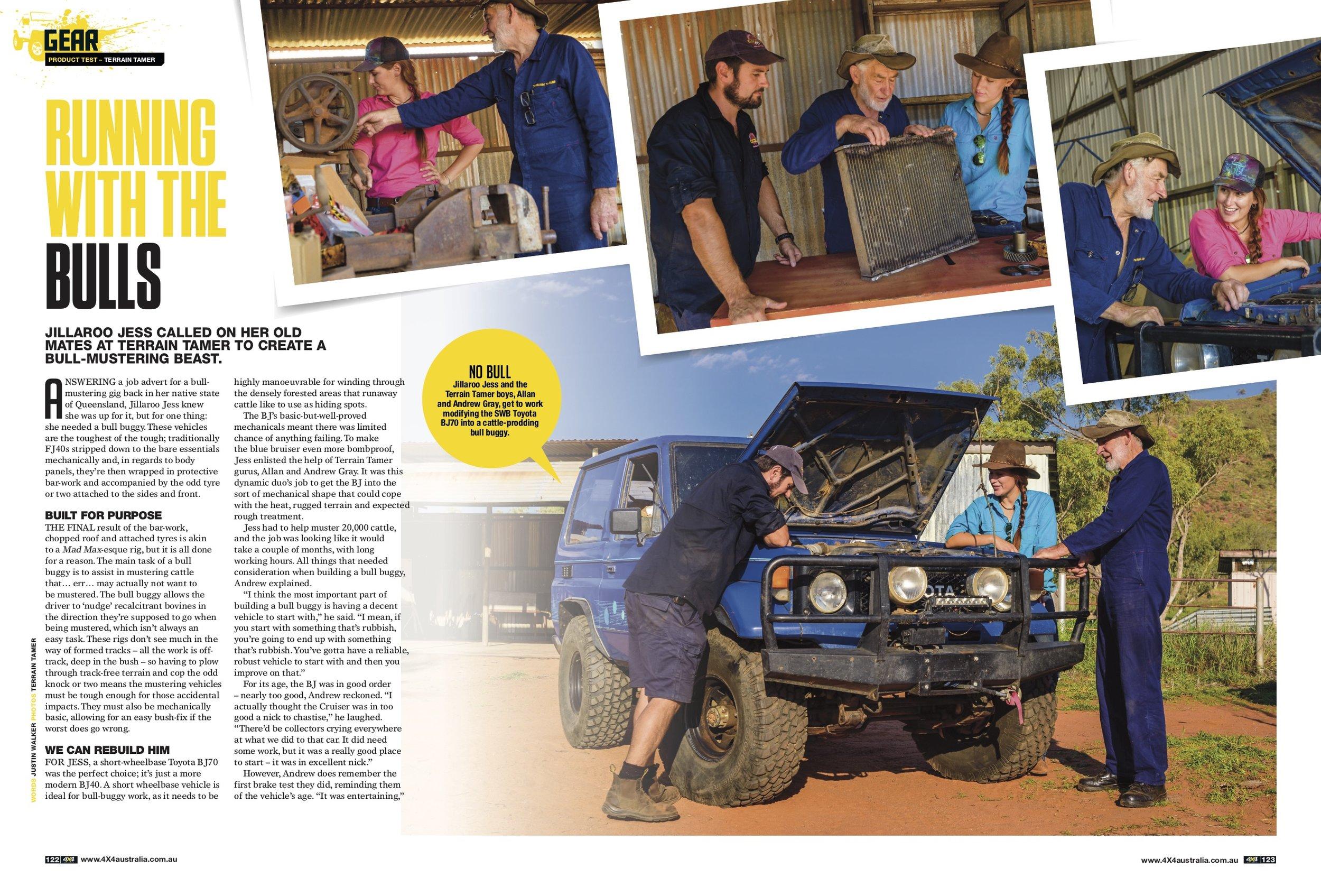 Jillaroo Jess in 4X4 Australia Magazine