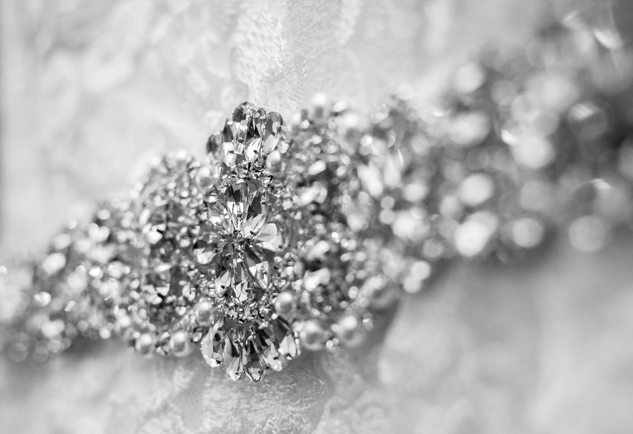 Wedding Dress Rhinestone Details