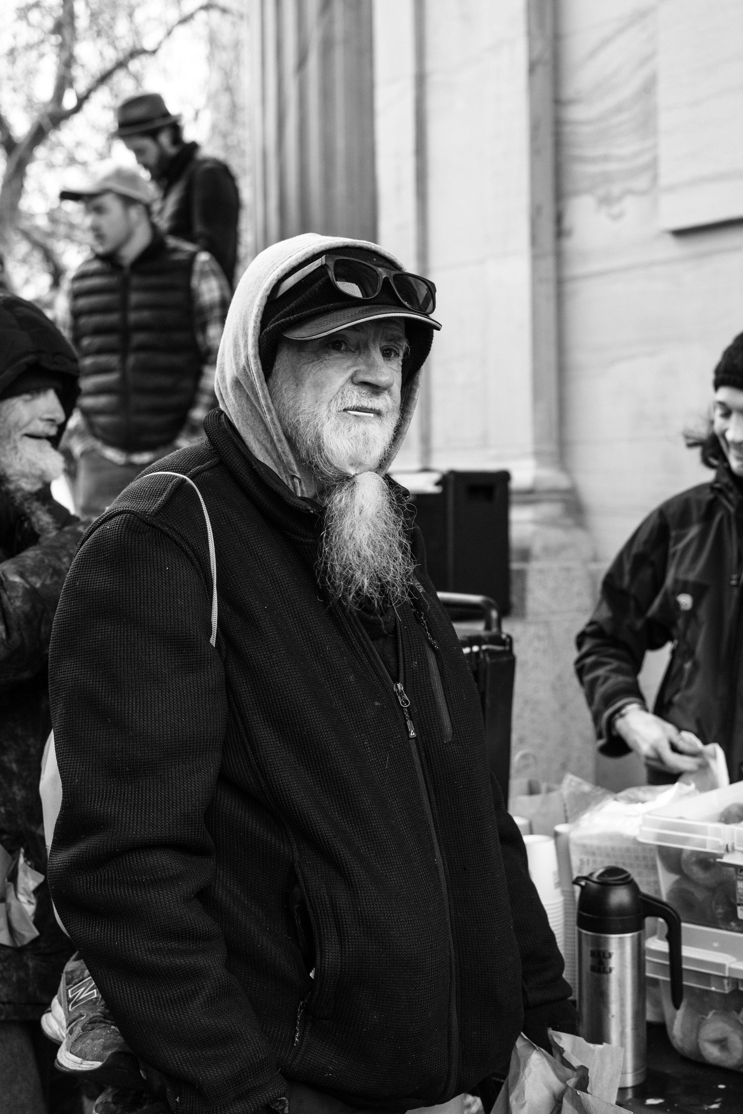 deaf homeless man