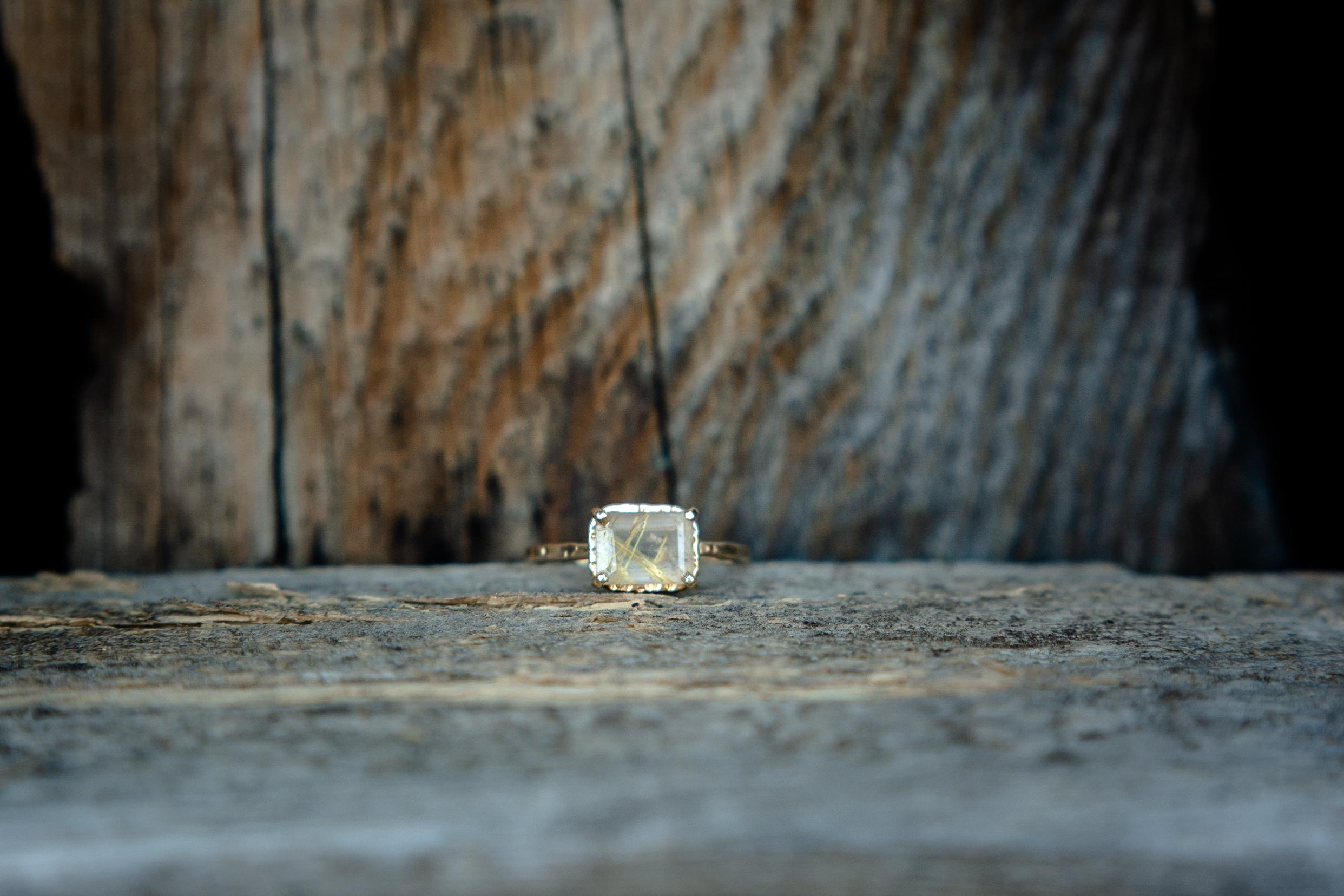 unique engagement ring photo