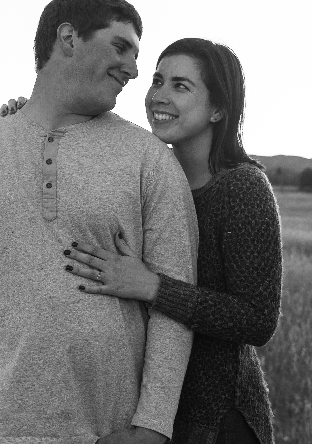 fiance engagement session