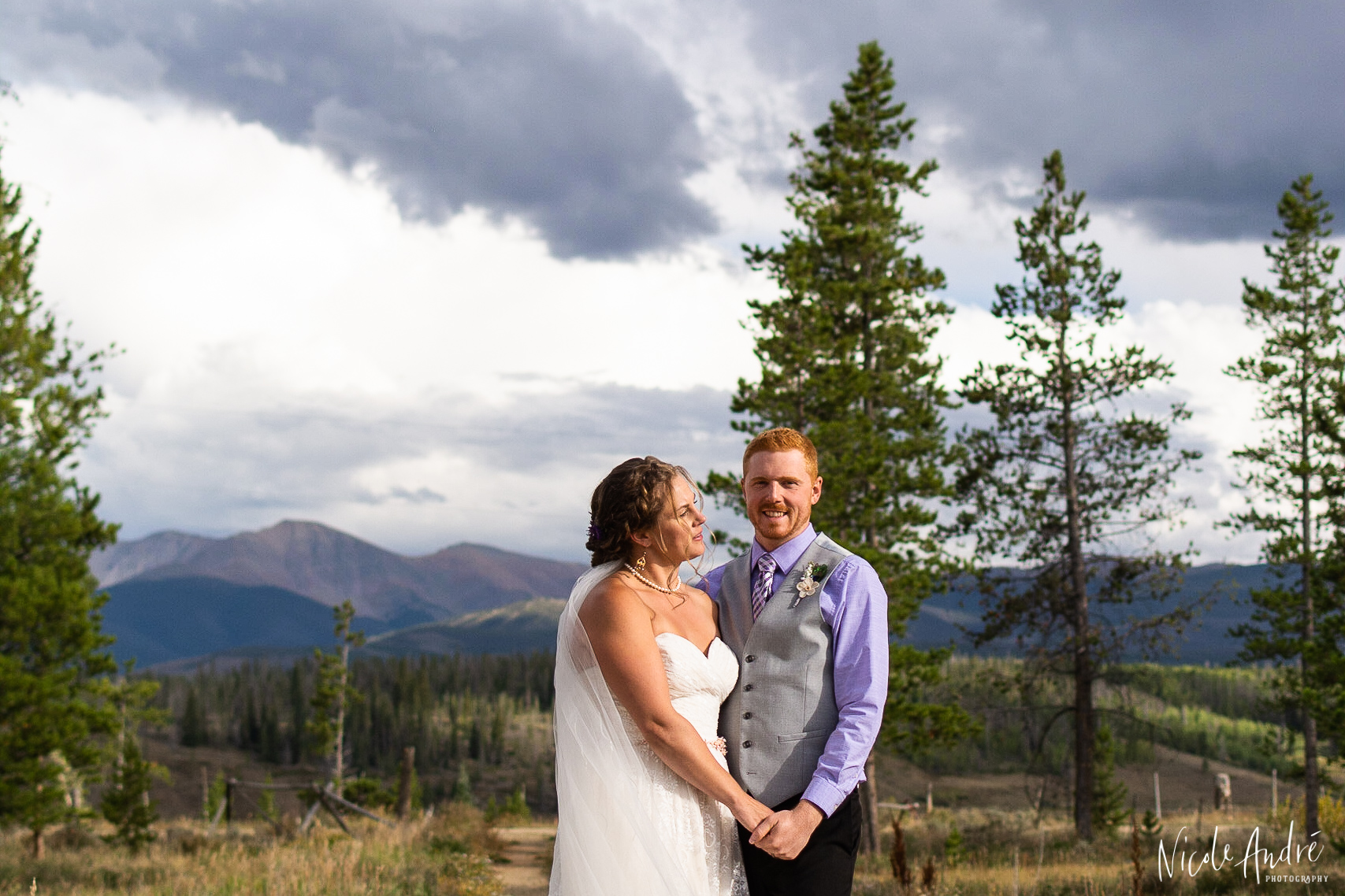 mountain bride and groom portraits