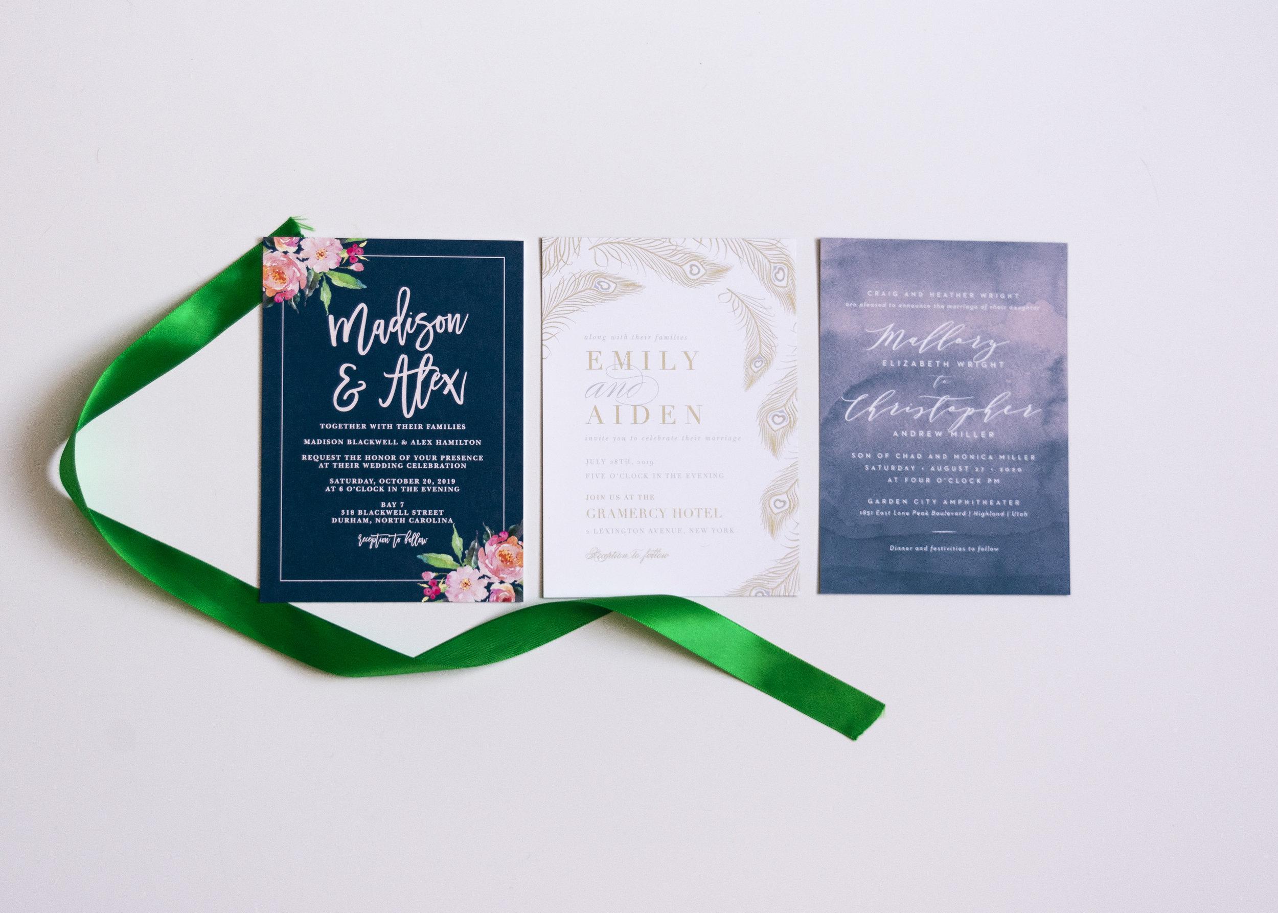 Watercolor Invitation Collection