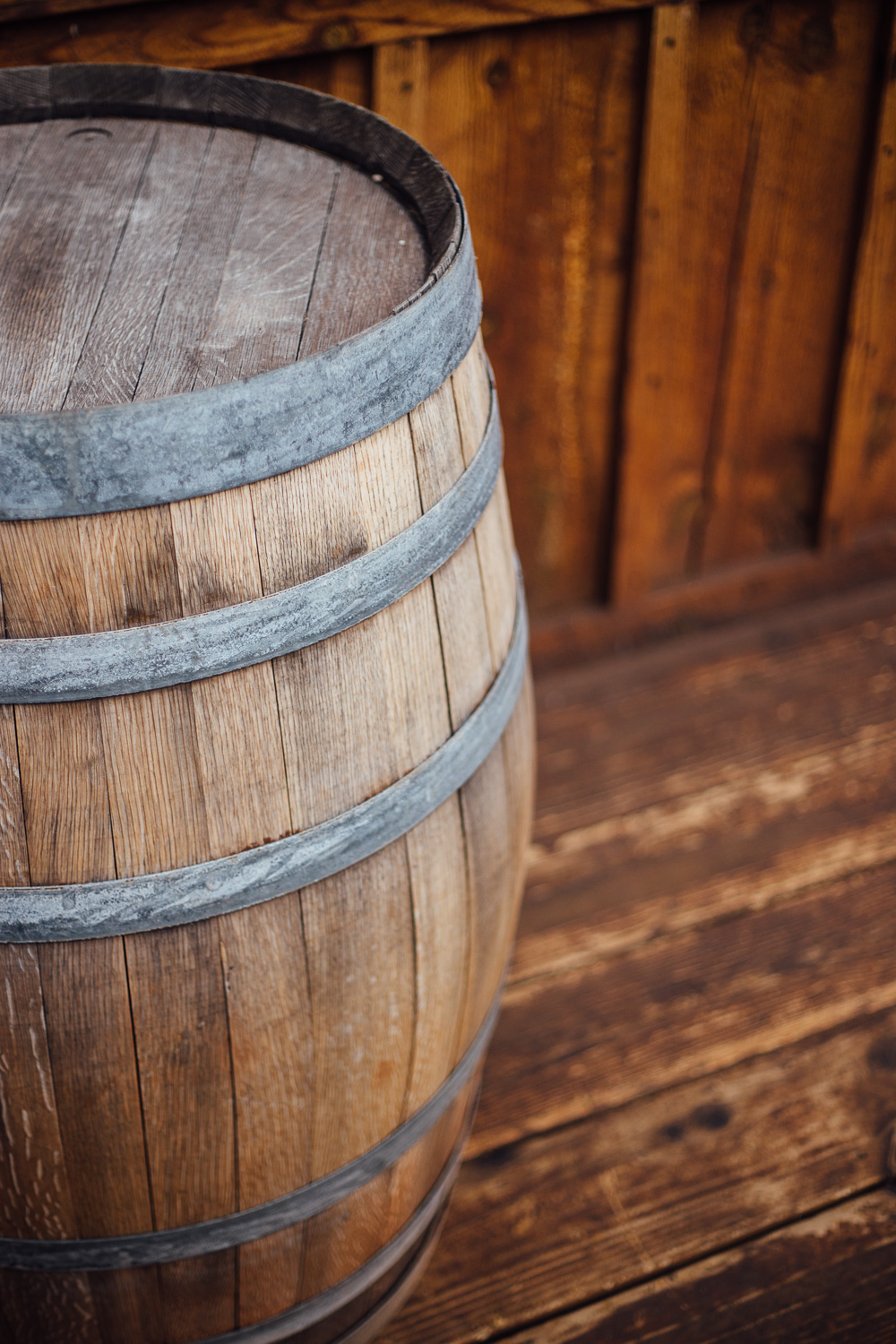 Wine Barrel Red Cliffs Lodge winery ceremony location detail