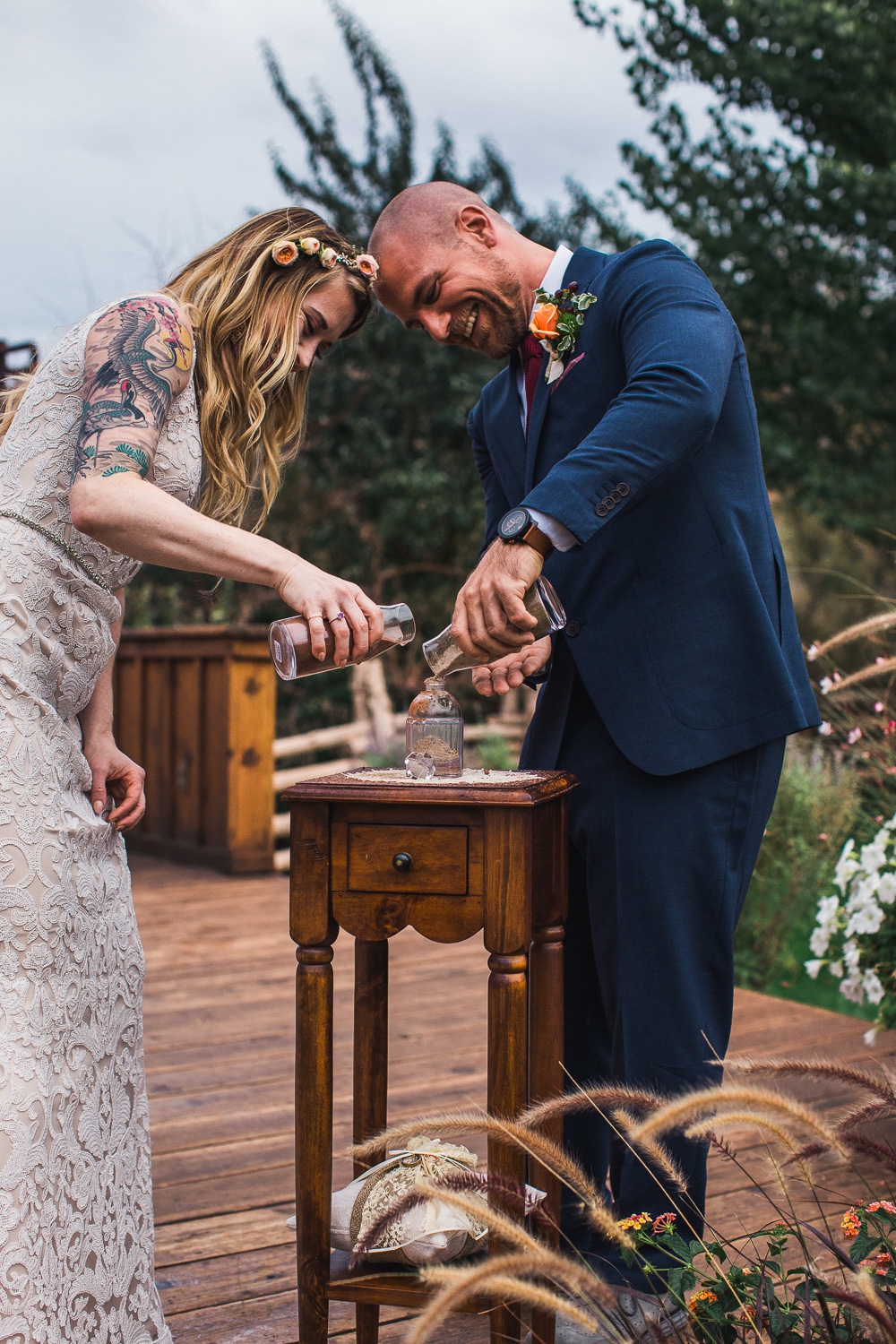 Unity sand wedding ceremony destination Moab Utah photographers