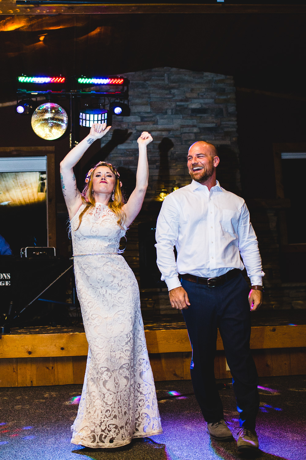 Epic first dance bride and groom destination wedding reception