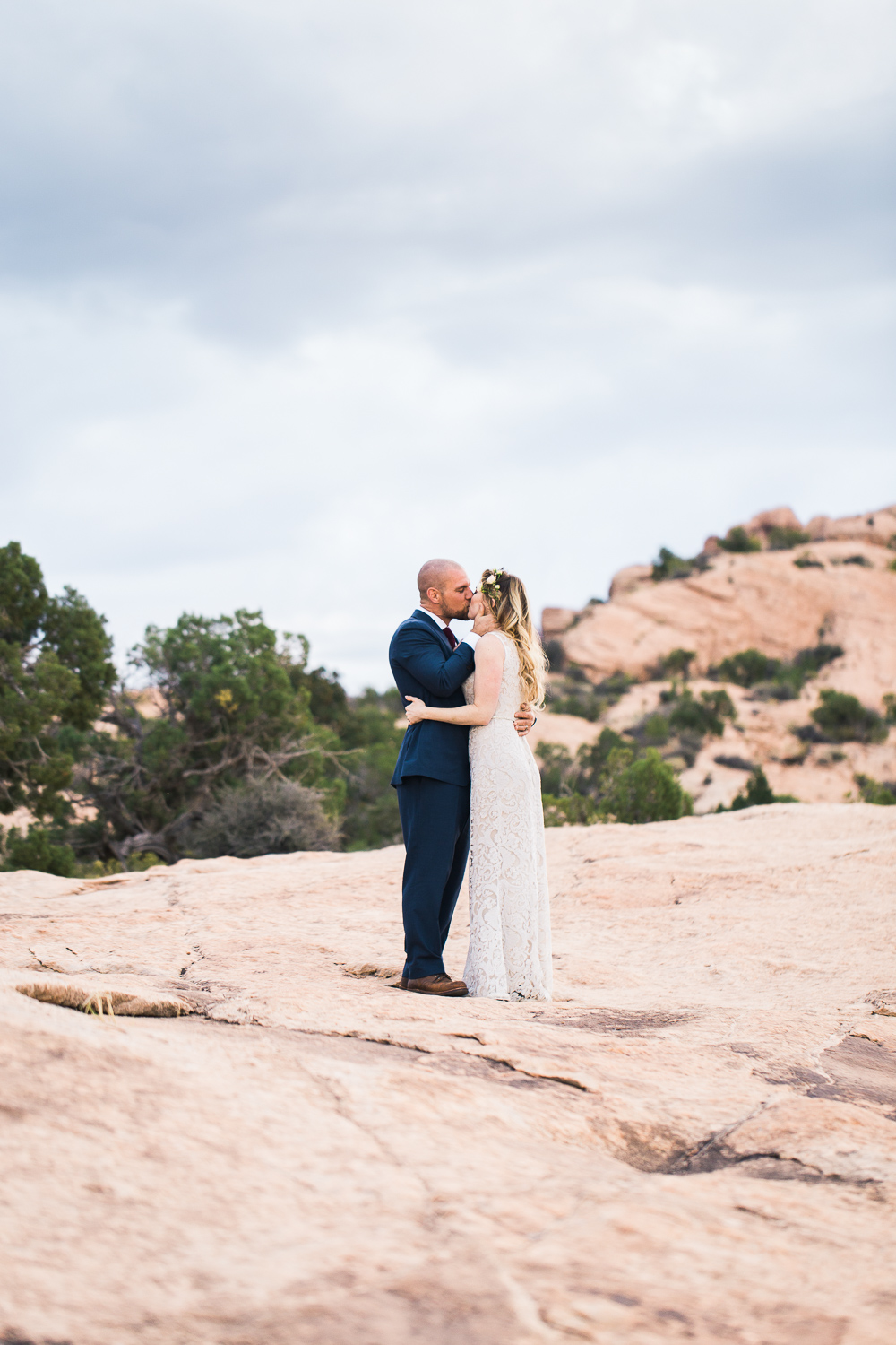Arches National Park Bride and groom fine art wedding portrait
