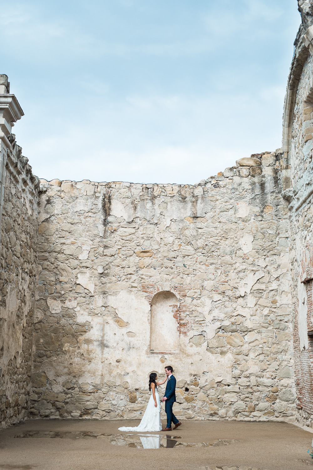 Mission San Juan Capistrano historic ruins California wedding photographer Tyler Rye Photography