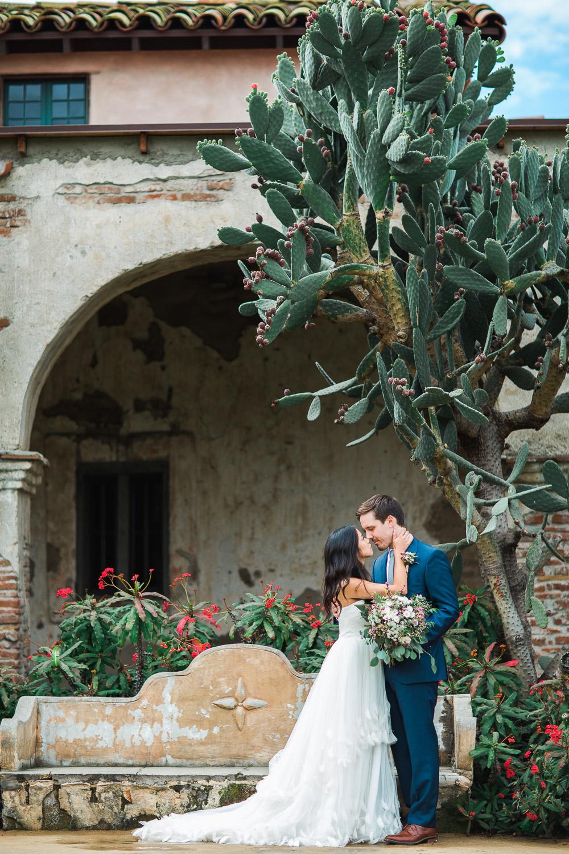Spanish mission desert wedding photographer Tyler Rye Photography