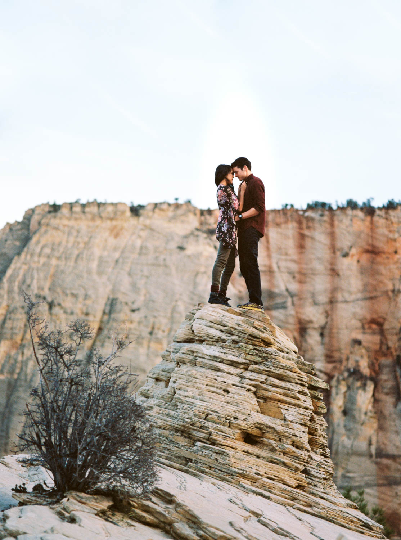 Fine art film photographers Zion National Park destination wedding and elopement photographers