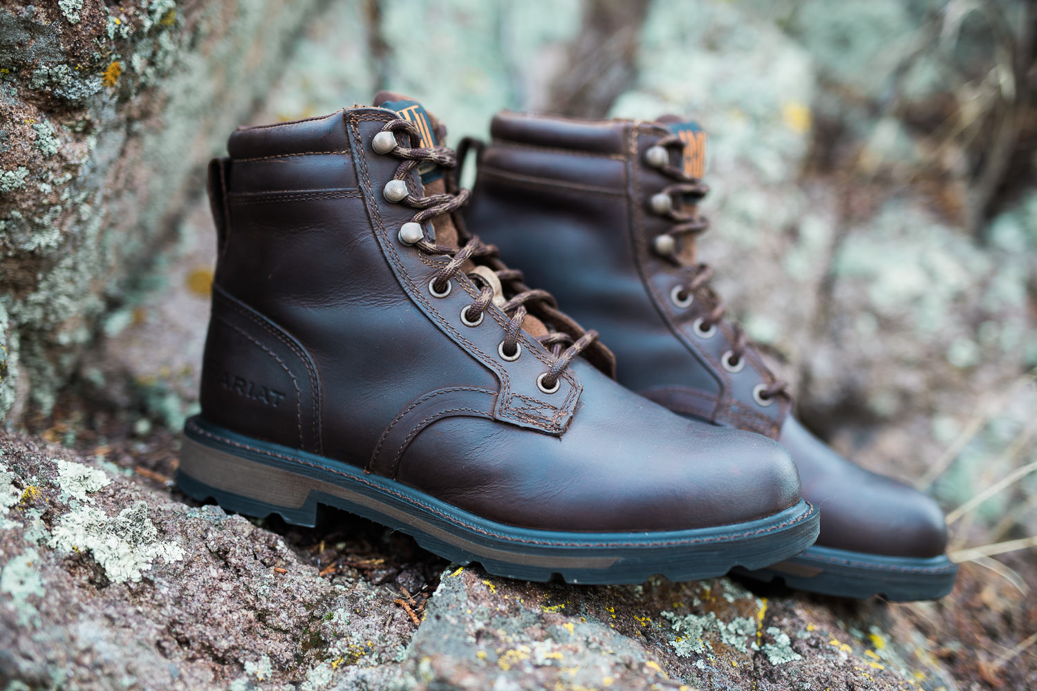 ariat leather work boots groom adventure wedding photography