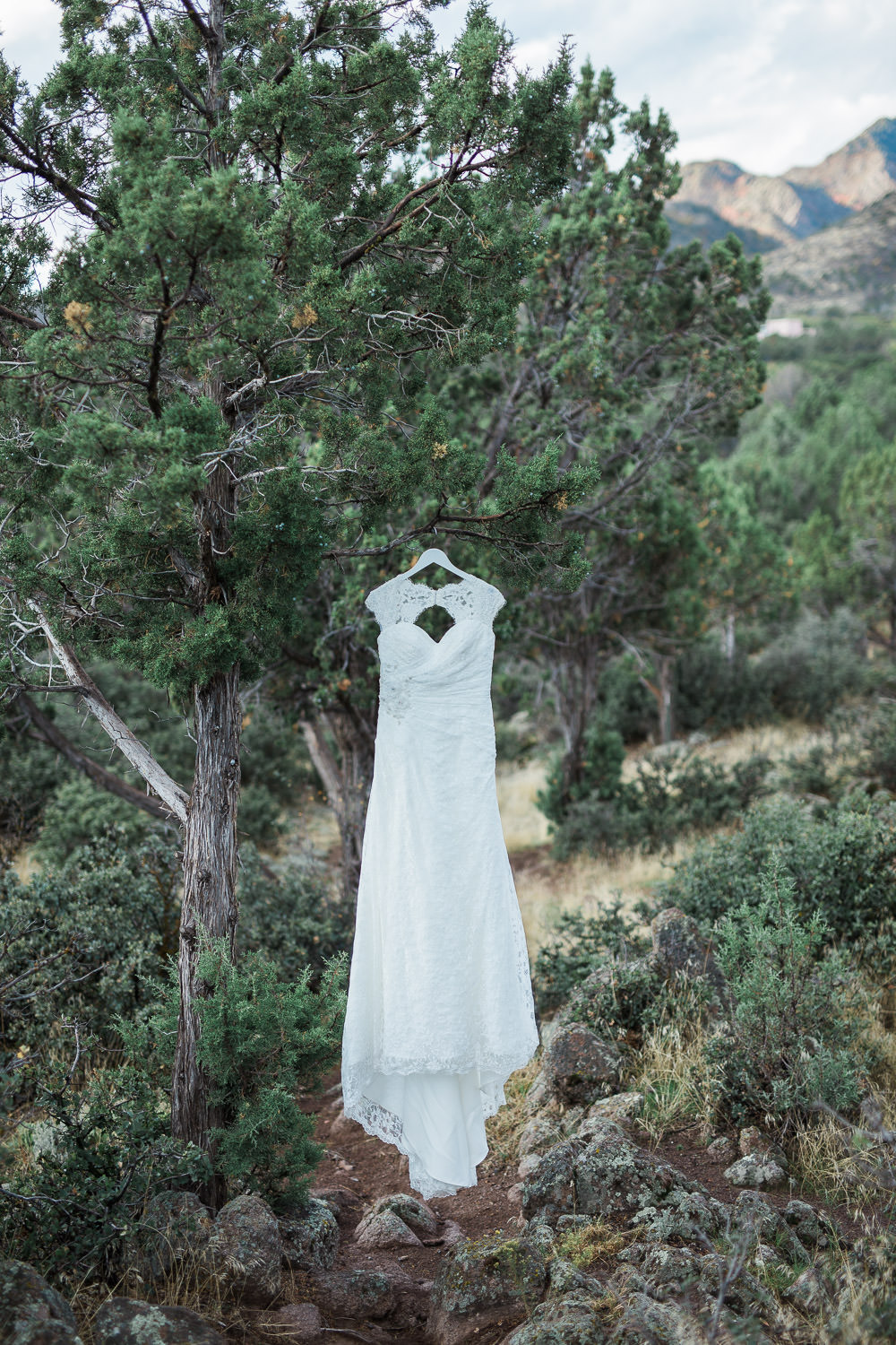 hanging dress zion wedding adventure photographer