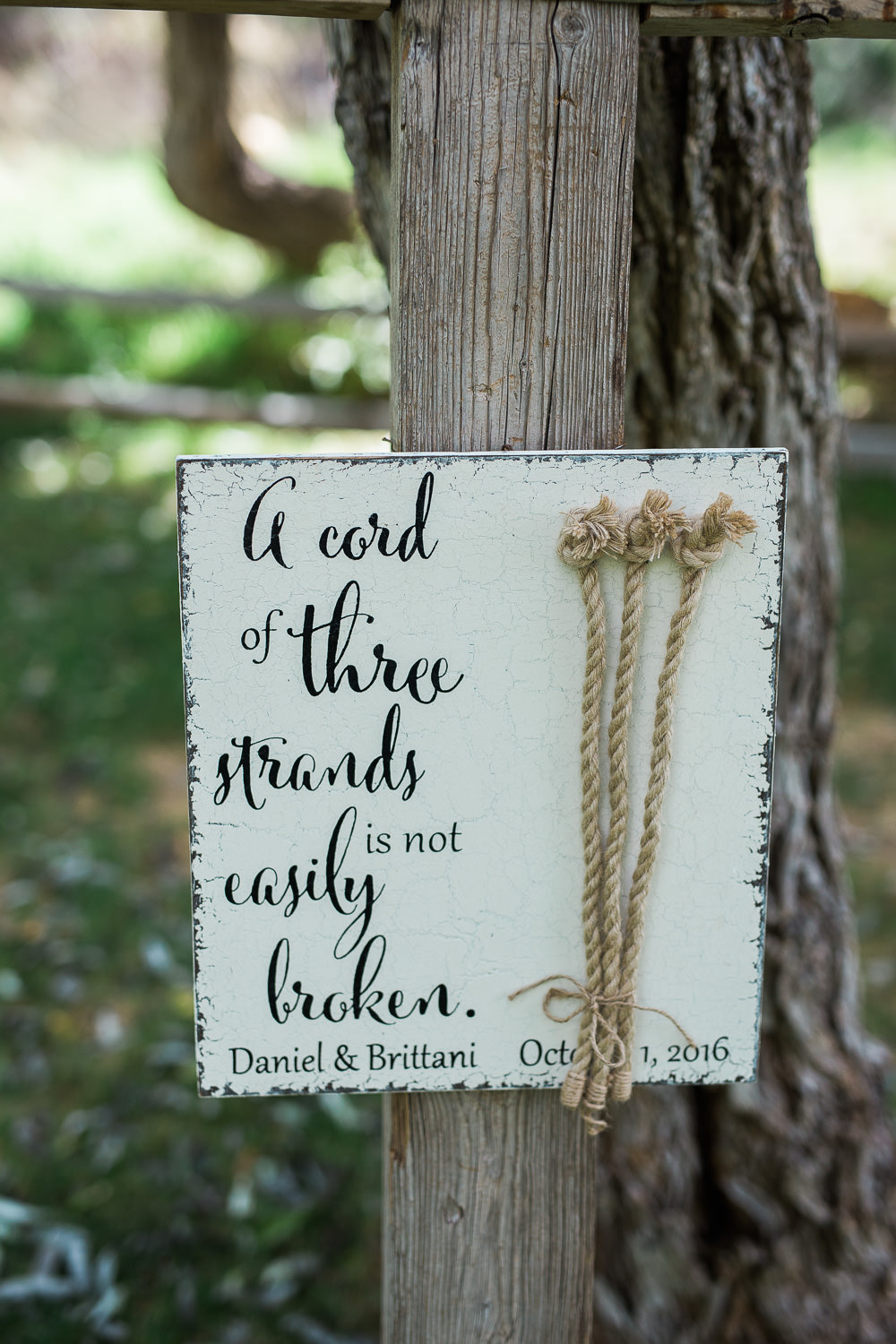a cord of three strands is not easily broken wedding