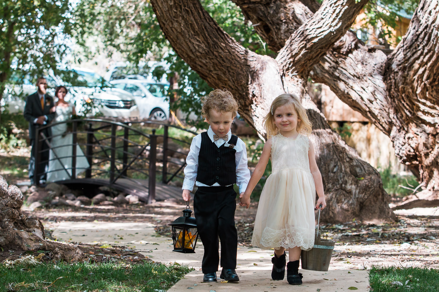 flower girl ring bearer utah mountain wedding ceremony
