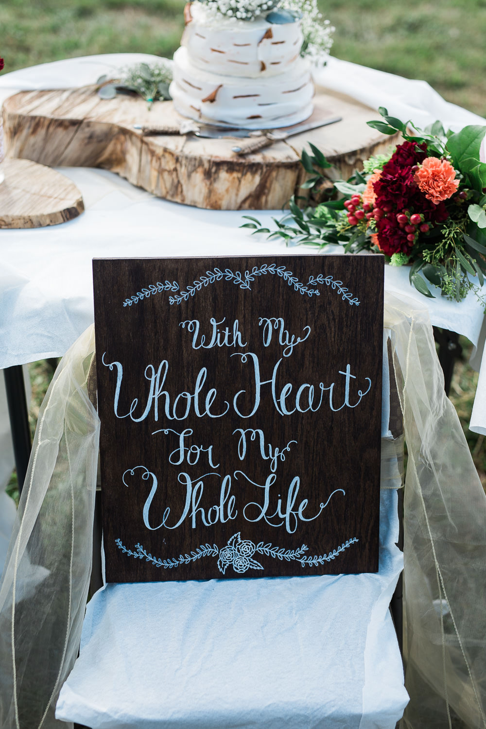 Wedding sign ideas aspen tree custom cake