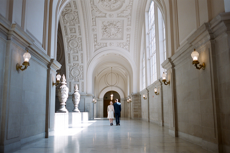 San Francisco City Hall Elopement Fine Art film elopement photographers