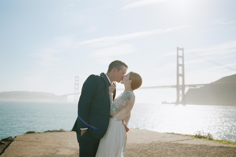 Golden Gate bridge adventure fine art film wedding photography
