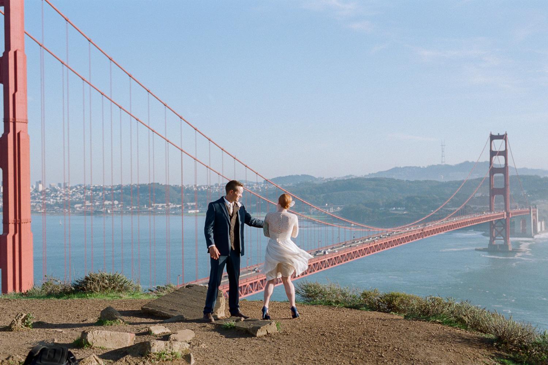 Marin Highlands Golden Gate Bridge view film photographer